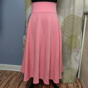 NWT Agnes & Dora pink midi skirt